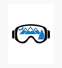 Ski goggles mountains Photographic Print