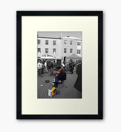 Flamenco in Salamanca - Digital Art Framed Print