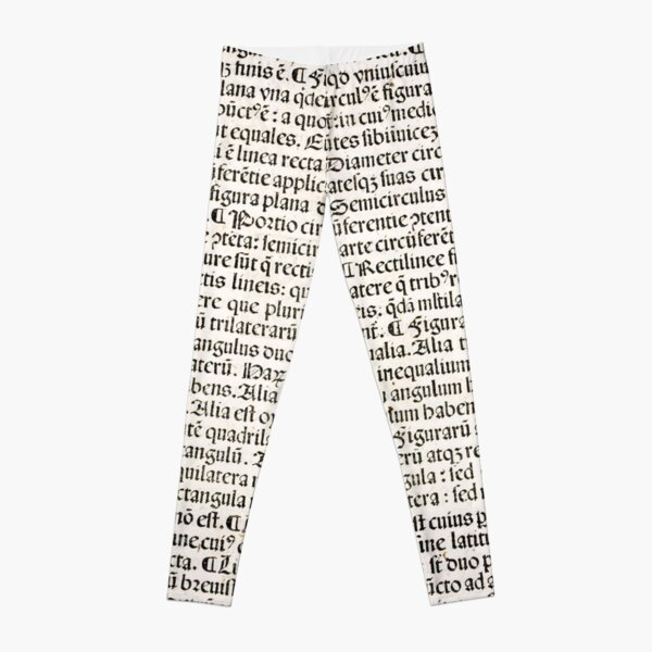 Euclid decorative printed initial  – State Library Victoria Leggings