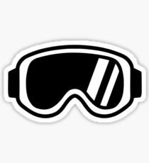 Skiing goggles Sticker