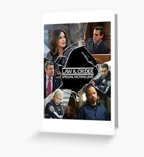 Law and Order: SVU Crack Poster Greeting Card