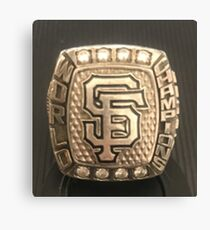 San Francisco Giants World Series Championship Ring 2014 Canvas Print