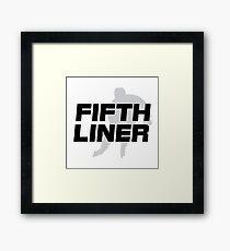 Fifth Liner Framed Print