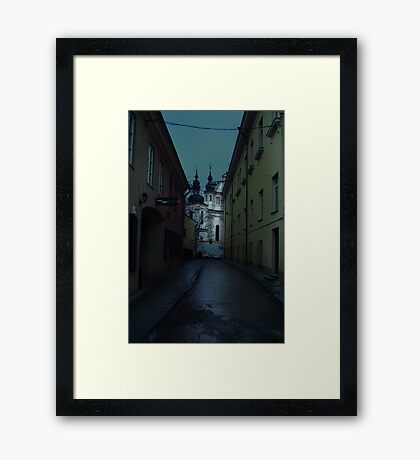 Old Street in Vilnius Framed Print