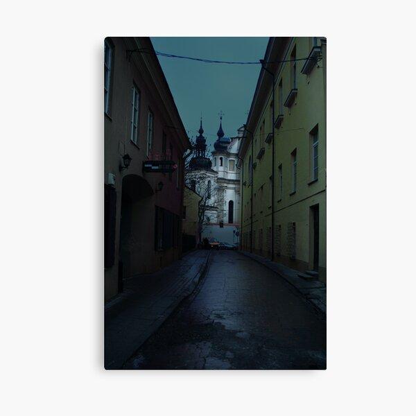 Old Street in Vilnius Canvas Print