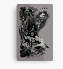 still death with flora Metal Print