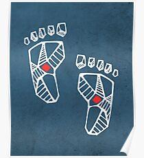 Jesus Christ feet ink illustration Poster