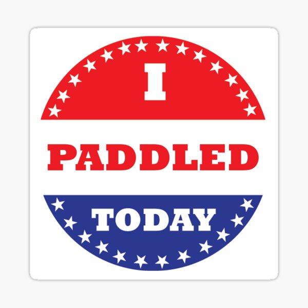 I Paddled Today Sticker