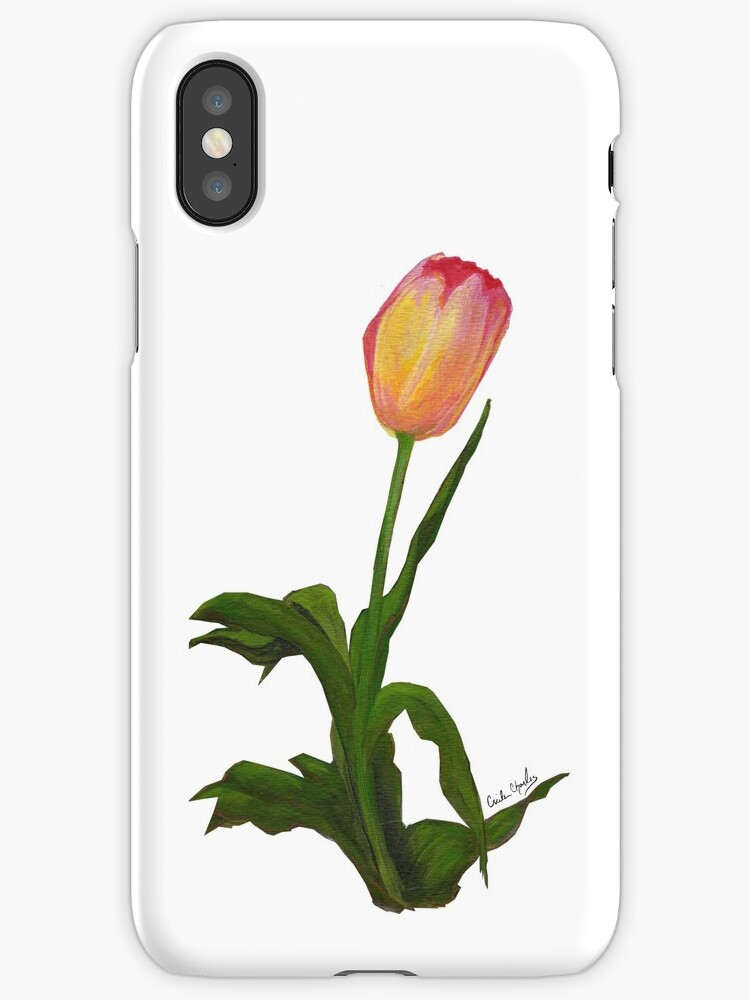 Yellow-Pink Tulip by  Cecile Grace Charles by CecileCharles