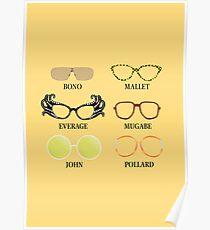 Wacky Glasses Poster