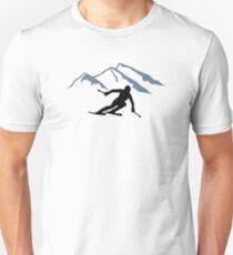 Skiing mountains Unisex T-Shirt