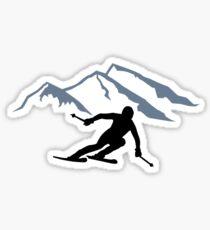 Skiing mountains Sticker