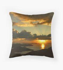Bordeaux Mountain Sunrise Throw Pillow