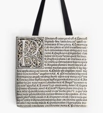 Euclid decorative printed initial  – State Library Victoria Tote Bag