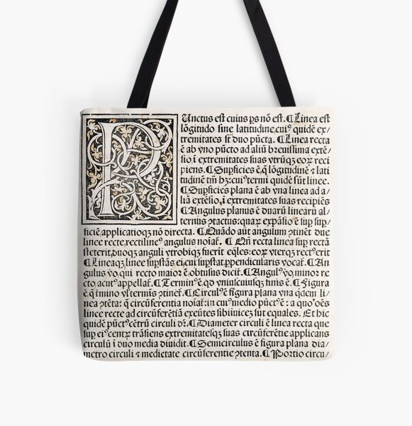 Euclid decorative printed initial  – State Library Victoria All Over Print Tote Bag
