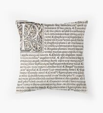 Euclid decorative printed initial  – State Library Victoria Throw Pillow