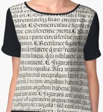 Euclid decorative printed initial  – State Library Victoria Chiffon Top