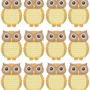 One Dozen Owls by jgevans