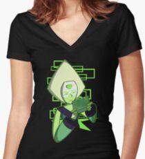 Gamer Dorito (Peridot) Women's Fitted V-Neck T-Shirt