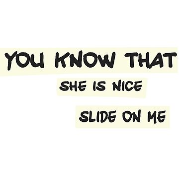 KPOP K-SIGNS SHE IS NICE SLIDE ON ME by BionicWiggly