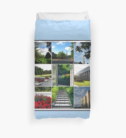 Der Preston-Tempel-Boden in der Hochsommer-Collage Bettbezug