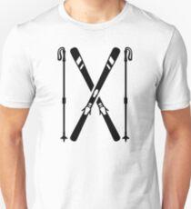 Crossed ski Unisex T-Shirt