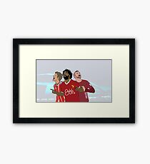 Champion strikers Framed Print