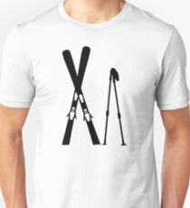 Crossed ski sticks Unisex T-Shirt