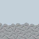 Pretty Piles of Foggy Yarn Balls for Luscious Leggings Collection by Kristin Omdahl by Kristin Omdahl
