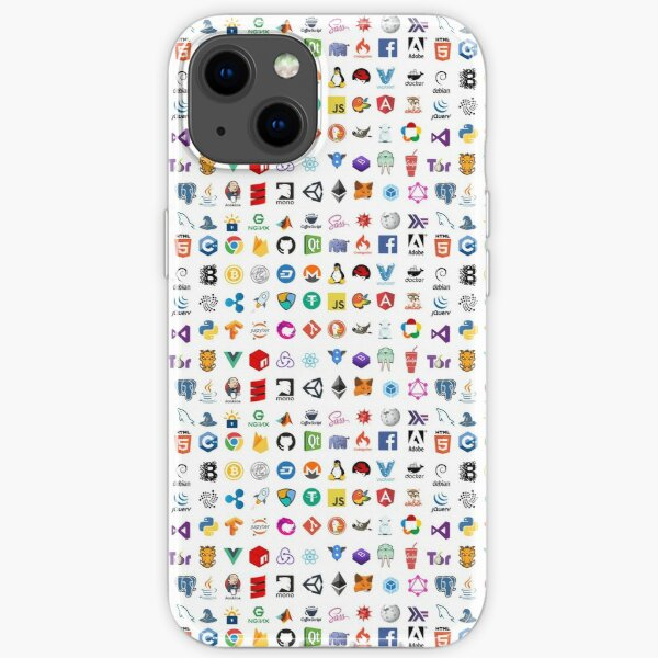 Developer icons, open source project logos, web companies iPhone Soft Case