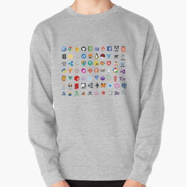 Iconos de desarrollador, logotipos de proyectos de código abierto, empresas web Sudadera sin capucha