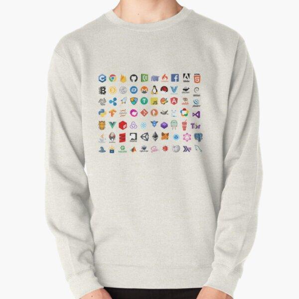 Developer icons, open source project logos, web companies Pullover Sweatshirt