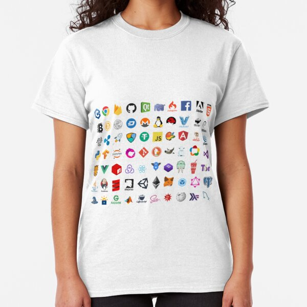 Developer icons, open source project logos, web companies Classic T-Shirt