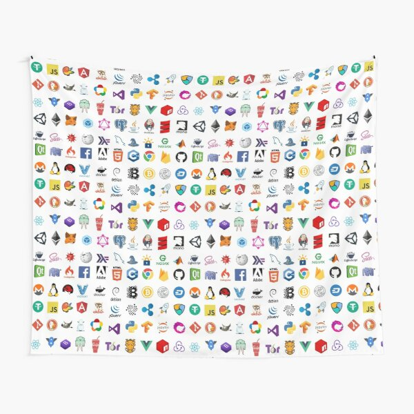 Developer icons, open source project logos, web companies Tapestry