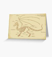 European Mountain Dragon Anatomy Greeting Card