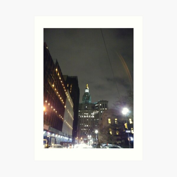 Nightlight, night Art Print