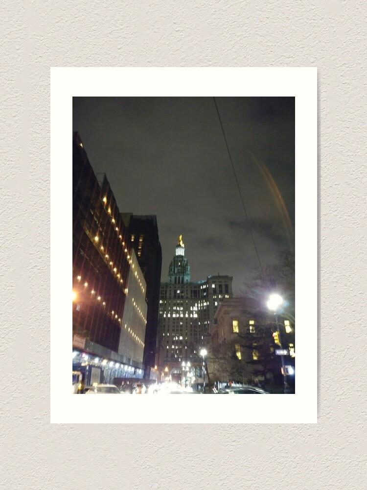 Alternate view of Nightlight, night Art Print