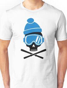 Skiing skull Unisex T-Shirt