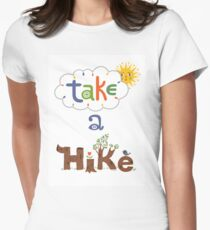 take a hike Women's Fitted T-Shirt