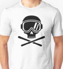 Skull crossed ski Unisex T-Shirt