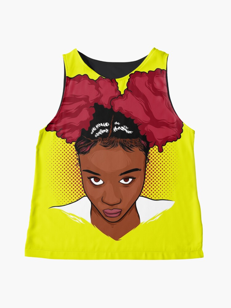 Alternate view of CurlyGirl Kinky Natural Hair Afro Puff T Shirt/Tees T-Shirt Sleeveless Top
