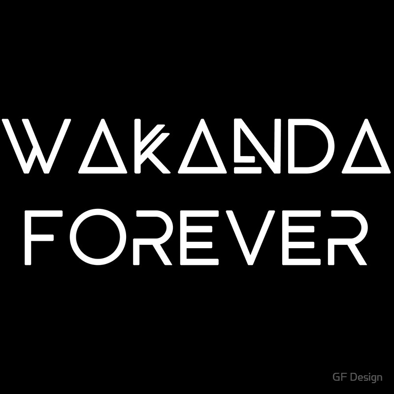 wakanda forever posters by gf design redbubble