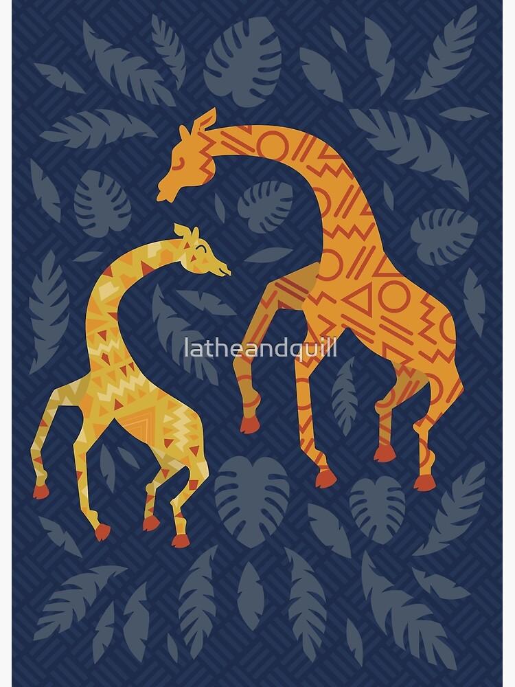 Tanzende Giraffen mit Mustern von latheandquill