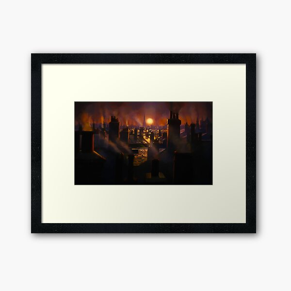 Mary Poppins Rooftop Sunset Framed Art Print