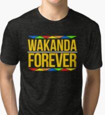 #WakandaForever - Wakanda Forever Shirt - Wakanda T Shirt - Wakanda Forever Tee Tri-blend T-Shirt