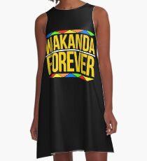 #WakandaForever - Wakanda Forever Shirt - Wakanda T Shirt - Wakanda Forever Tee A-Line Dress