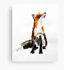 Woodland Fox acrylics on paper Canvas Print
