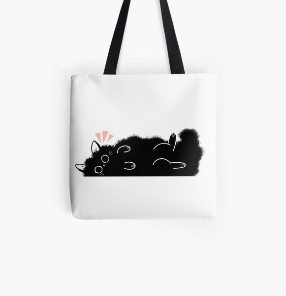 FluffCat All Over Print Tote Bag