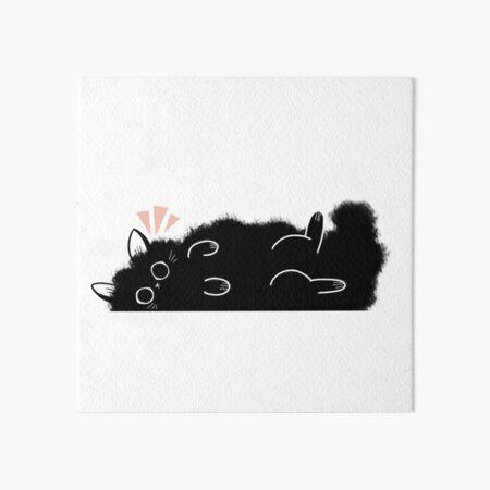 FluffCat Art Board Print