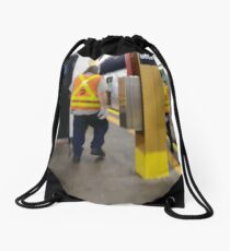 Subway Drawstring Bag